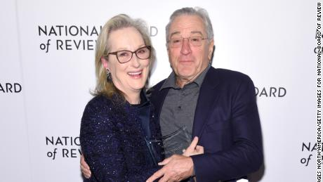 Meryl Streep and Robert De Niro at the National Board of Review awards gala in January in New York.