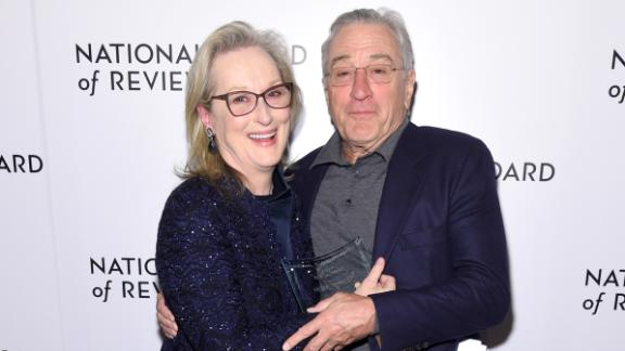 Meryl Streep and Robert De Niro pose during the National Board of Review Annual Awards Gala on January 9, 2018 in New York City.