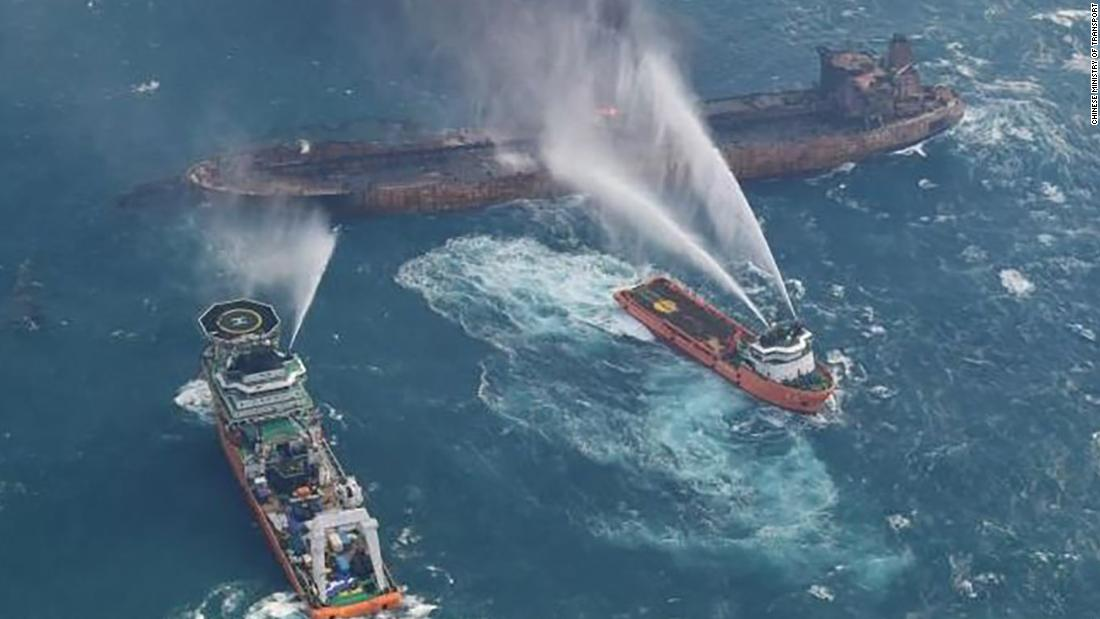 Oil Tanker Sanchi Partially Explodes In East China Sea Cnn