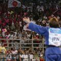 Ryoko Tani of Japan celebrates gold sydney 2000 judo