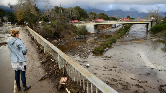 A view of the 101 freeway from Olive Mill Road in Montecito.