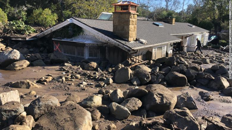Rivers of mud wreak havoc in California