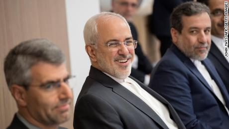 Iran Foreign Minister Javad Zarif before the meeting in Brussels on Thursday.