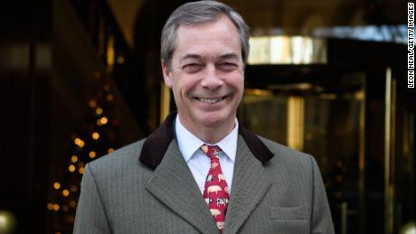 LONDON, ENGLAND - DECEMBER 08:  Former UKIP leader Nigel Farage leaves Millbank studios in Westminster on December 8, 2017 in London, England. British Prime Minister Theresa May has announced that there will be no hard border in Ireland, meaning that Brexit talks can now move onto trade talks.  (Photo by Leon Neal/Getty Images)