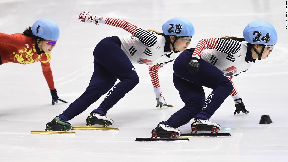 <strong>Choi Min-jeong and Shim Suk-hee (South Korea):</strong> This year's host nation has won 53 medals in its Winter Olympics history -- and 42 of them were in short-track speedskating. No country in the world has won more Olympic medals in the sport. Two of its big favorites this year are Choi, right, and Shim, center. Choi was world champion in 2016 and 2015. Shim was world champion in 2014, when she also won three Olympic medals in Sochi.