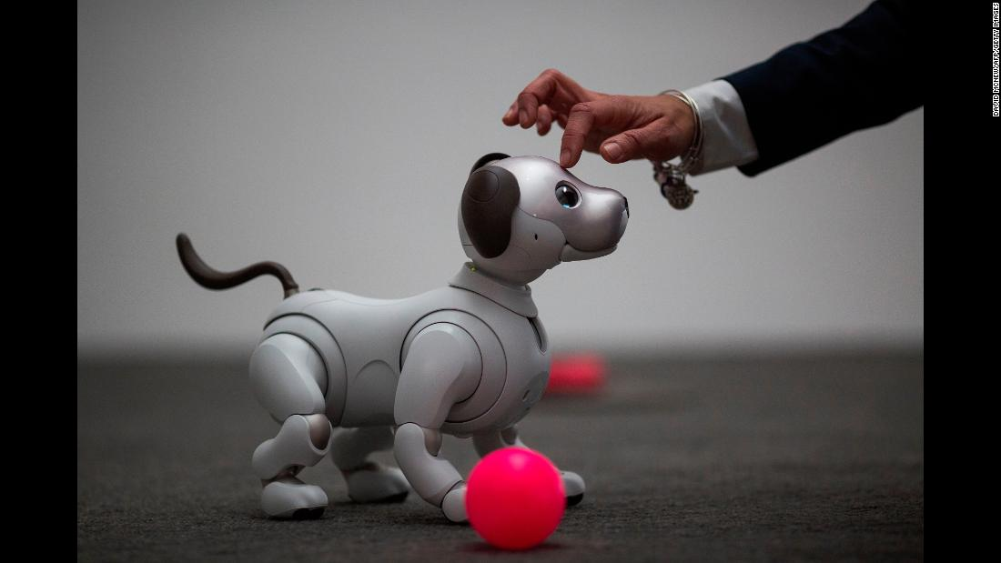 "The newest generation of <a href=""http://money.cnn.com/2018/01/10/technology/sony-aibo-robot-dog-ces-2018/index.html"" target=""_blank"">Sony's robotic dog Aibo</a> is demonstrated on the eve of CES, the annual electronics show in Las Vegas, on Monday, January 8."