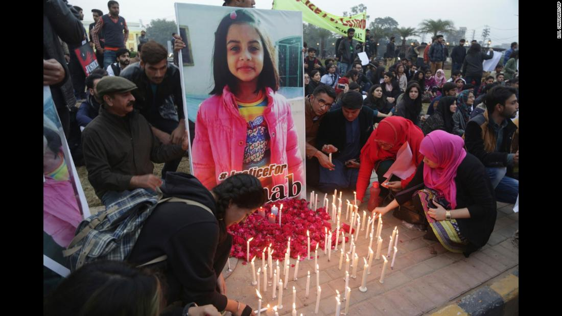 "Students in Lahore, Pakistan, light candles Thursday, January 11, during a rally condemning the rape and killing of Zainab Amin, a 7-year-old girl whose body was found dumped on a garbage pile in the Pakistani city of Kasur. <a href=""http://www.cnn.com/2018/01/11/asia/pakistan-protests-zainab-intl/index.html"" target=""_blank"">Zainab's killing</a> has angered locals who say the authorities have done too little to keep their children safe after a series of similar killings."