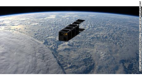 An artist's depiction of the satellite once its in orbit.