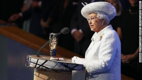 GLASGOW, SCOTLAND - JULY 23:  Queen Elizabeth II, Patron of the CGF speaks during the Opening Ceremony for the Glasgow 2014 Commonwealth Games at Celtic Park on July 23, 2014 in Glasgow, Scotland.  (Photo by Hannah Peters/Getty Images)