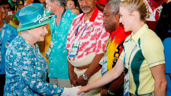 She was, however, in attendance in Glasgow 2014, meeting the likes of Australian hurdler Sally Pearson.