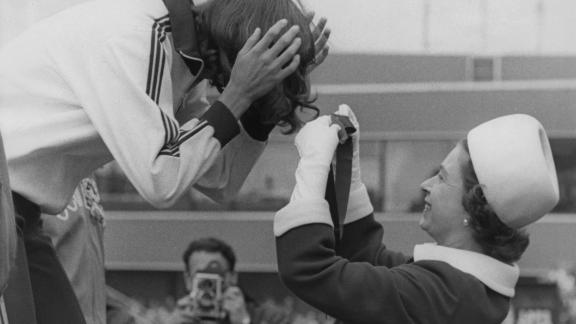 The Queen has had a long association with the Games during her reign. Here she hands out a medal at the 1970 Games in Edinburgh.