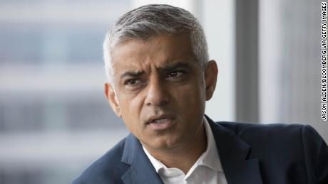 Sadiq Khan, London mayor, speaks during an interview after attending a charity event at the offices of BGC Partners Inc. in London, U.K., on Monday, Sep. 11, 2017. Khan, the son of a bus driver from Pakistan, is on a mission to ensure London remains a prosperous multicultural melting pot after Britain completes its retreat from the European Union. Photographer: Jason Alden/Bloomberg via Getty Images