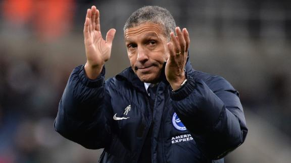 NEWCASTLE UPON TYNE, ENGLAND - DECEMBER 30:  Chris Hughton, Manager of Brighton and Hove Albion applauds fans after the Premier League match between Newcastle United and Brighton and Hove Albion at St. James