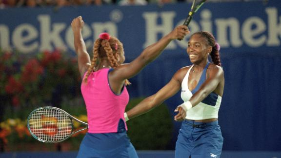 Venus won the Australian Open women's doubles title with sister Serena in 2001.