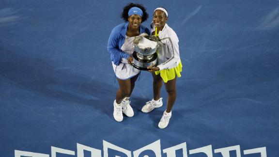 In 2009, the two Williams sisters won their third Australian Open women's doubles title after beating Ai Sugiyama of Japan and Daniela Hantuchova of Slovakia.