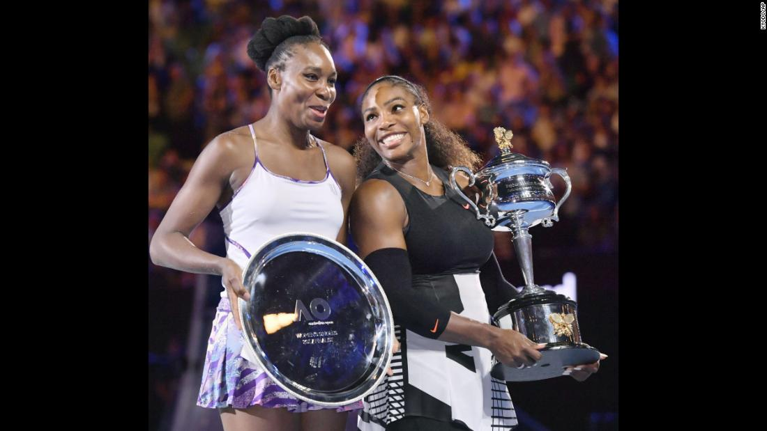 Last year the two Williams sisters met in the Australian Open women's singles final for a second with Serena again getting the better of Venus, winning 6-4 6-4. Serena won't be at Melbourne Park to defend her title following the birth of her first child and if Venus were to win this year she's become the oldest player -- male or female -- to win a major in the Open era.