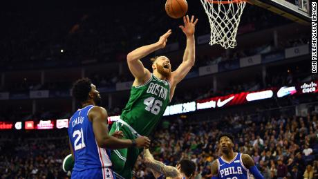 London crowds enjoyed NBA's spectacle as the Boston Celtics beat the Philadelphia 76ers at the O2 Arena.