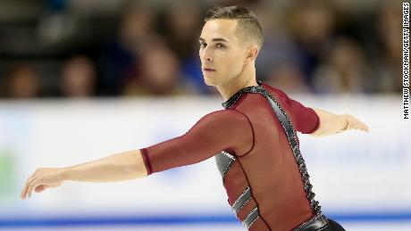 SAN JOSE, CA - JANUARY 04:  Adam Rippon competes in the Men's Short Program during the 2018 Prudential U.S. Figure Skating Championships at the SAP Center on January 4, 2018 in San Jose, California.  (Photo by Matthew Stockman/Getty Images)