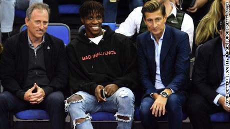 Crystal Palace star Wilfried Zaha looked to be enjoying the NBA action