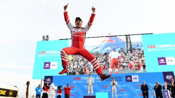 Swede Felix Rosenqvist was victorious for Mahindra Racing at January
