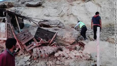 Two people were killed when a 7.1-magnitude earthquake shook Peru on Sunday, according to a regional governor.
