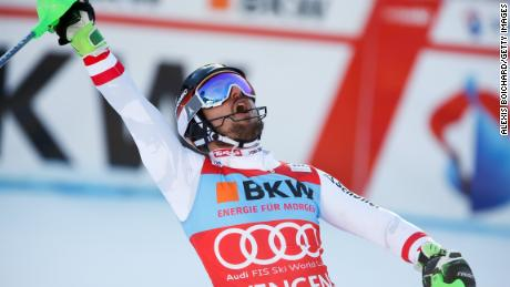 Marcel Hirscher made it five wins in a row with victory in Wengen.