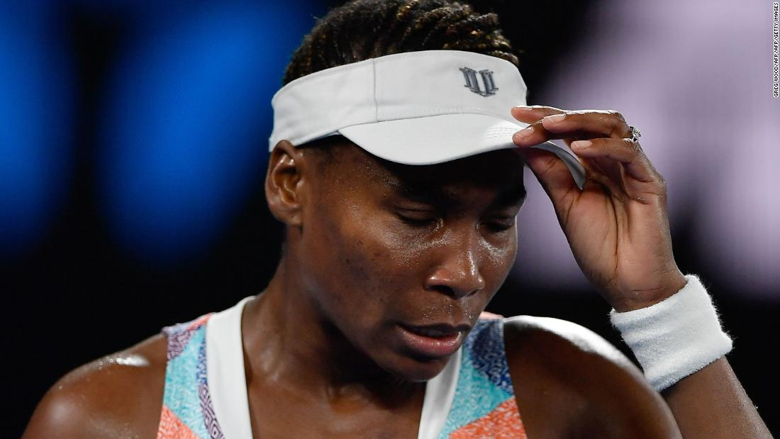 And on Monday, Venus had a tough draw in the first round and was beaten by Belinda Bencic 6-3 7-5.
