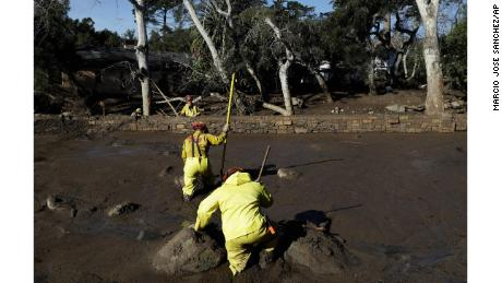 3 remain missing in deadly California mudslides