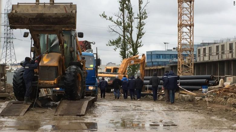 North Korean workers employed on this construction site are very likely to send funds back to their families.