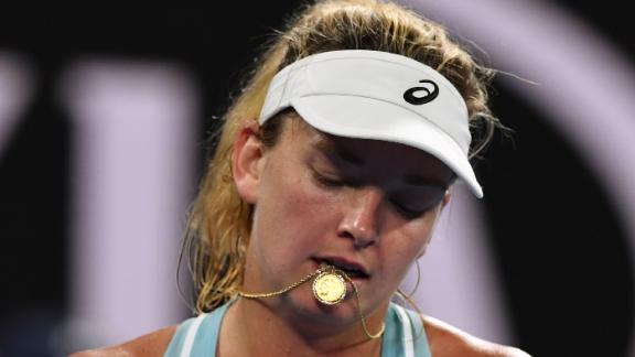 Vandeweghe was one of 12 Americans to be knocked out of the Australian Open in the first round