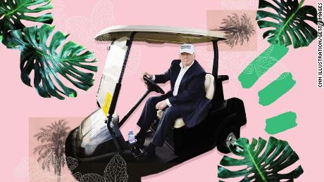 Trump hasn't let the presidency get in the way of his golf game