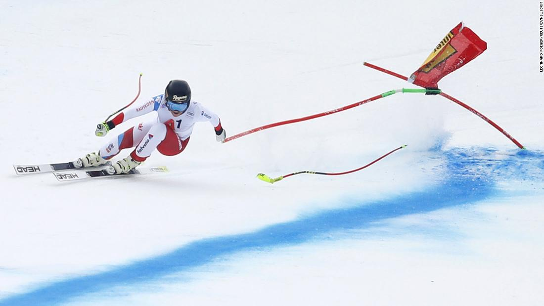Lara Gut of Switzerland loses a ski pole during the FIS Alpine Ski World Cup on January 13 in Bad Kleinkirchheim, Austria.