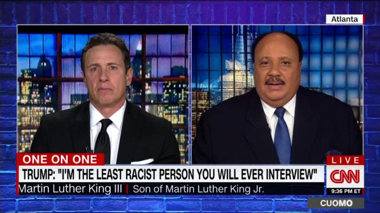 martin luther king III trump immigration slur cuomo prime time_00002001