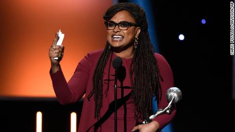 Ava DuVernay accepts the award for the entertainer of the year at the 49th annual NAACP Image Awards at the Pasadena Civic Auditorium on Monday, Jan. 15, 2018, in Pasadena, Calif. (Photo by Chris Pizzello/Invision/AP)