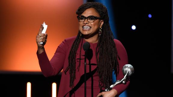 Ava DuVernay accepts the award for entertainer of the year Monday at the NAACP Image Award.
