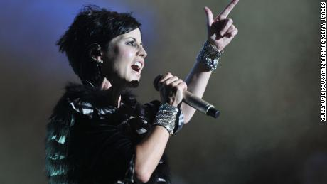 (FILES) This file photo taken on July 07, 2016 shows Irish singer Dolores O'Riordan of the Irish band The Cranberries performing on stage during the 23th edition of the Cognac Blues Passion festival in Cognac on July 7, 2016.  The Cranberries singer Dolores O'Riordan died on January 15, 2018 in London at the age of 46, a publicist statement said.  / AFP PHOTO / GUILLAUME SOUVANTGUILLAUME SOUVANT/AFP/Getty Images