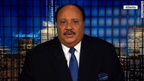 "On the 50th anniversary of his father's assassination, Martin Luther King III said Monday, January 15, 2018, that he believes President Donald Trump's vulgar and demeaning language to describe immigrants from Africa were ""extremely racist."""