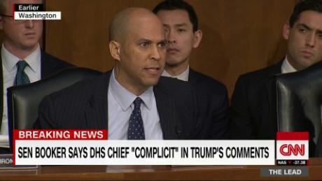 Booker: DHS Chief 'complicit' in Trump's comments