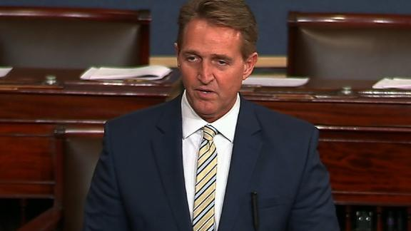 "Senator Jeff Flake (R-Arizona) will be live from the Senate floor at approximately 10:15aE. Flake is expected to speak about  President Trump and ""fake news claims not good for Democracy"""