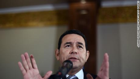 President elect Jimmy Morales of the National Front Convergence speaks during a press conference in Guatemala city on October 26, 2015. Morales, a comic actor and TV personality, declared victory as election officials released the resounding results: 68 percent of the vote for the conservative candidate to 32 percent for former first lady Sandra Torres, with 97 percent of polling stations reporting. AFP PHOTO / JOHAN ORDONEZ        (Photo credit should read JOHAN ORDONEZ/AFP/Getty Images)