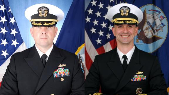 Cmdr Bryce Benson, left, and Cmdr Alfredo J. Sanchez, right.