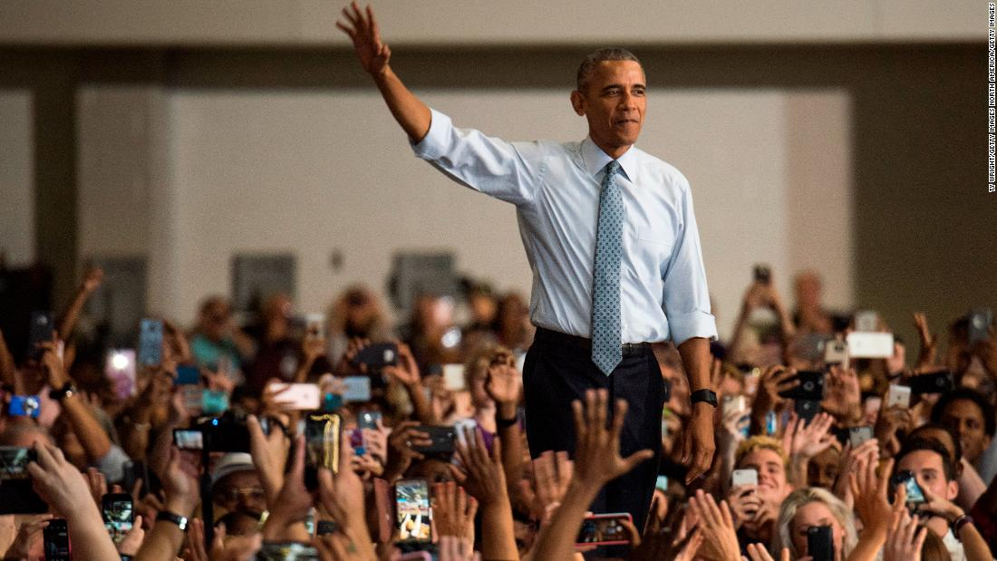 A survey finds that Americans think the best president in their lifetime was Obama