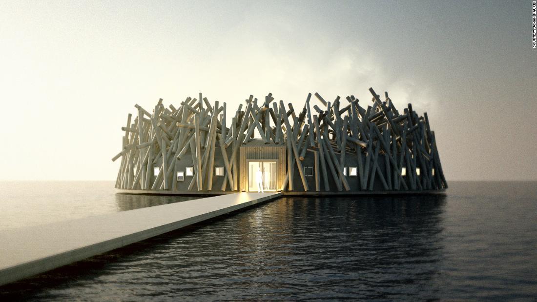 Inside Sweden's new floating hotel
