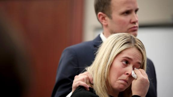 Alongside her husband, Chelsea Williams delivers her victim impact statement on Wednesday.