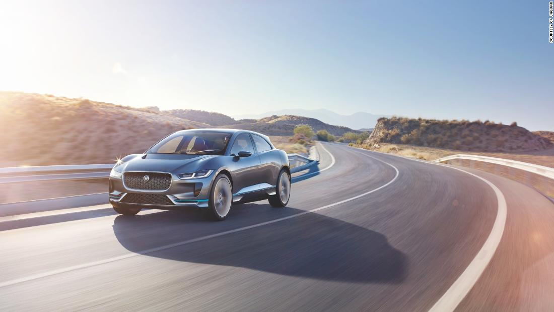Capable of accelerating from 0-60mph in 4.5 seconds, the first ever all-electric Jaguar has 395bhp and a range of 298 miles.