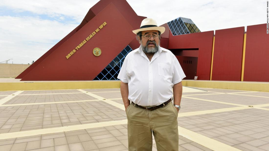 Peruvian archaeologist Walter Alva led the recent excavation. Here, he stands in front of the Sipan Royal Tomb Museum, in Lamabyeque, northern Peru. He is most famous for his discovery of the tomb of the Lord of Sipan in 1987.