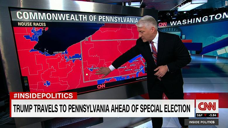 John King talking about Pennsylvania districts before the court's ruling