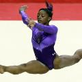 Simone Biles action