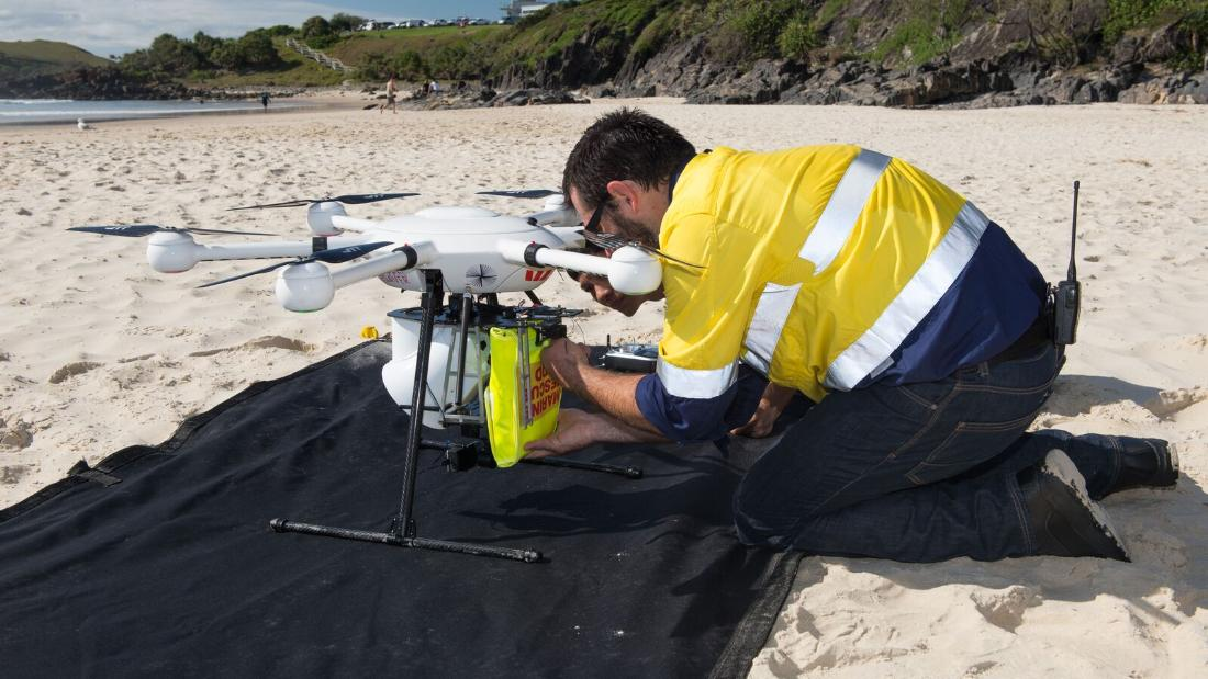"In January 2018 in New South Wales, Australia, the Little Ripper UAV proved vital in rescuing two men caught in rough surf. Lifeguards used the drone to drop an inflatable life preserver in minutes, which the swimmers clung on to to make it to shore. <a href=""/2018/01/18/tech/drone-rescue-swimmers-australia/index.html"" target=""_blank""><strong>Read more.</strong> </a><br /><br />"