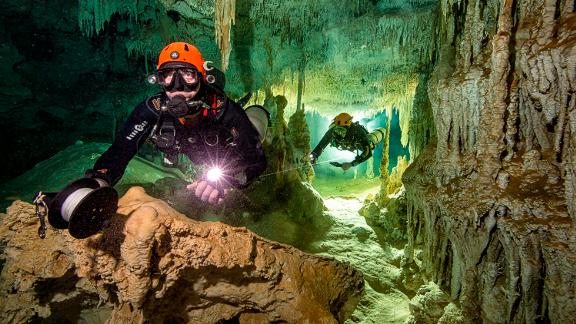 Last month, divers from the Great Mayan Aquifer Project discovered the world's largest flooded cave, when they connected the cave system known as Sac Actun with the Dos Ojos system.